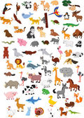 Big animal set — Stock Vector