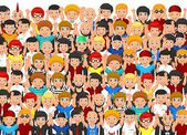 Crowd of People — Stock Vector