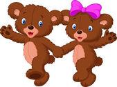Медведь пара — Cтоковый вектор