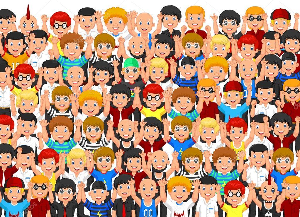 Multitud de personas archivo im genes vectoriales - Imagenes de gente mala onda ...