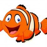 Cute clown fish cartoon — Stock Vector #49593319