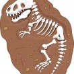 Tyrannosaurus rex fossil — Stock Vector #49593463