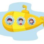 Cartoon yellow submarine — Stock Vector #49593759
