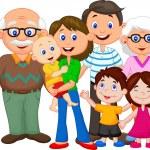 Happy cartoon family — Stock Vector