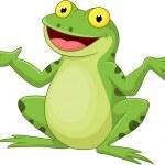 Funny cartoon green frog — Stock Vector #49595949
