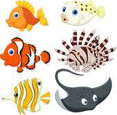 Tropical fish cartoon — Stock Vector