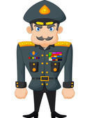 Cartoon military general — Stock Vector