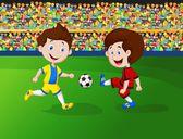 漫画少年サッカー — ストックベクタ
