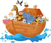 Noah ark cartoon — Vector de stock