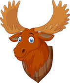 Moose head cartoon — Stock Vector