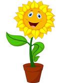 Kreslená slunečnicového — Stock vektor
