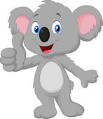 Koala giving thumb up — Stock Vector