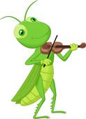 Grasshopper with a Violin — Stock Vector