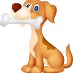 Dog with bone — Stock Vector #49603861