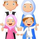 Happy Muslim family — Stock Vector #49605887