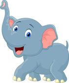 Elefante de la historieta — Vector de stock