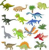 Dinosaur cartoon  set — Stock Vector
