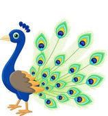 Peacock cartoon — Stockvektor