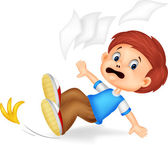 Cartoon boy fall down — Stock Vector