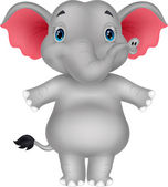 Elefante feliz — Vector de stock