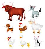 Conjunto de animales de granja — Vector de stock