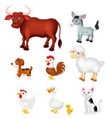 Farm animal set — Stockvektor
