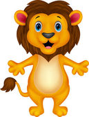 Happy carton lion — Vector de stock