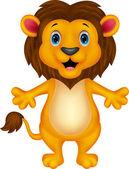 Happy carton lion — Stockvector