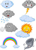 Weather symbol cartoon — Stock Vector