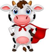 Superhero cow — Stock Vector