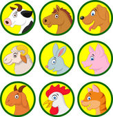 Farm animal collection — Vector de stock