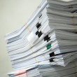 Stock Photo: Pile of documents