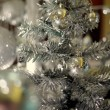 Silver decorated christmas tree — Stock Photo #34678469