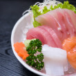 Sashimi served on ice — Stock Photo