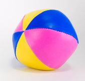 Colorful toy ball isolated on white — Stock Photo