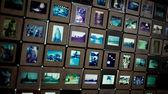 Many old film slides display on lightbox — Stock Photo