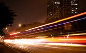 Samochód światła w ruchu — Zdjęcie stockowe