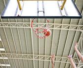 Basketball shot missed then rebound — Stock Photo
