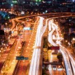 Tollway traffic in night — Stock Photo #34696499