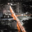 Highway traffic jam in the night — Stock Photo