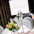 Reserved for the dinner — Stock Photo