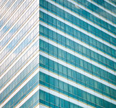 Many windows from the high-rise building — Stock Photo
