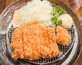 Tonkatsu, japanese style fried pork — Stock Photo