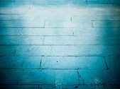 Blue floor tile in grunge style — Stock Photo