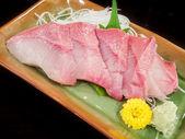 Plate of hamachi sashimi — Stok fotoğraf