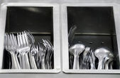 Forks and Spoons — Stock Photo