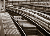 Electric railway curve — Stock Photo