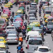 Very bad traffic in the center of Bangkok city — Foto Stock
