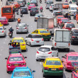 Very bad traffic in the center of Bangkok city — Stok fotoğraf