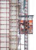 Service elevator in construction area — Stock Photo